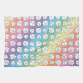 Rainbow volleyballs pattern towels