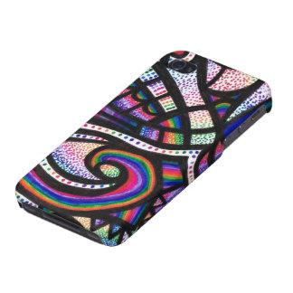 Rainbow Vortex iPhone 4 Covers