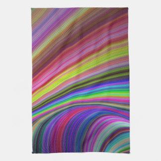 Rainbow vortex kitchen towel