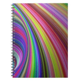 Rainbow vortex notebook