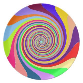 Rainbow Vortex Plate
