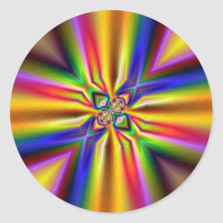 Rainbow vortex sticker