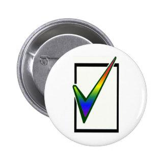 rainbow vote 2 inch round button