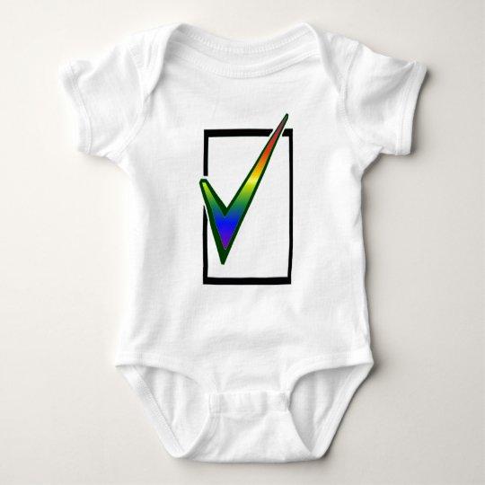 rainbow vote baby bodysuit