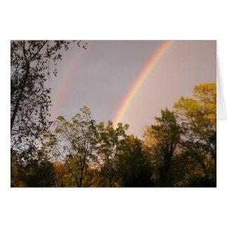 Rainbow Walk I Greeting Card