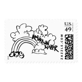Rainbow walker postage stamp