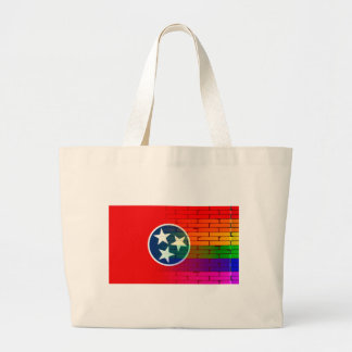 Rainbow Wall Tennessee Large Tote Bag