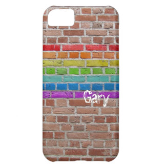 Rainbow Wall with name Cover For iPhone 5C