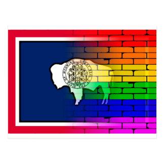 Rainbow Wall Wyoming Postcard
