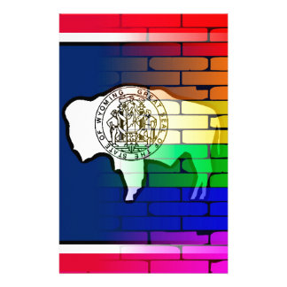 Rainbow Wall Wyoming Stationery