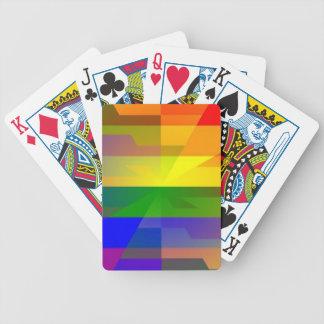 """Rainbow Warp"" Bicycle Playing Cards"