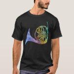 Rainbow Wash French Horn T-Shirt