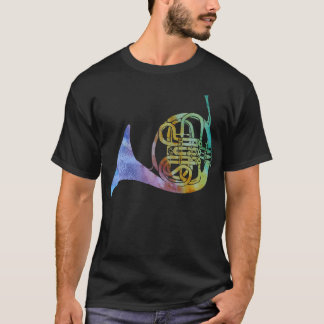 Rainbow Wash French Horn T-Shirt