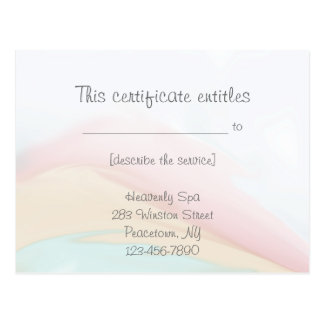 Rainbow Wash Gift Certificate Post Cards
