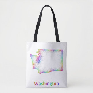 Rainbow Washington map Tote Bag