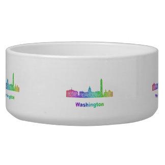 Rainbow Washington skyline Bowl