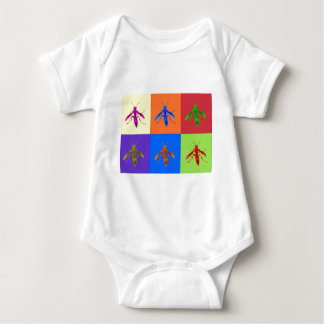Rainbow Wasps Baby Bodysuit
