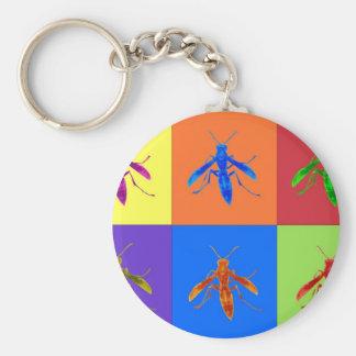 Rainbow Wasps Keychain