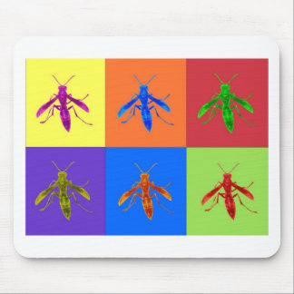 Rainbow Wasps Mouse Pad