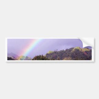 Rainbow water peace calm bumper sticker