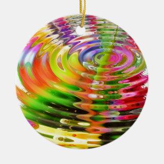 Rainbow Water Rings Ornament