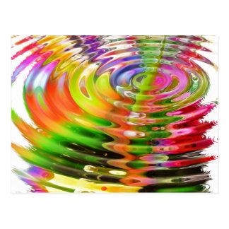 Rainbow Water Rings Postcard