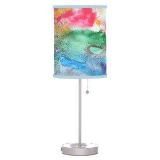 Rainbow Watercolor abstract Table Lamp