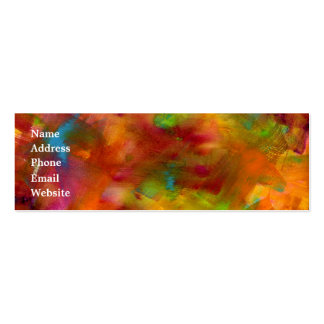 Rainbow Watercolor Business Card