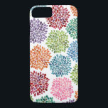 """Rainbow Watercolor Dahlia Flowers iPhone 7 case<br><div class=""""desc"""">One of a kind colorful,  multi-colored painted watercolor dahlia flowers design by Aussie designer/artist Pip  Hooray (Pip Gerard). Wont find this design available any where else for sale except here on !</div>"""