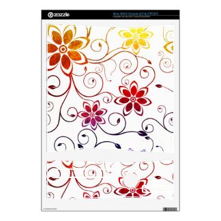 Rainbow Watercolor Flower Design Skins For Xbox 360 S