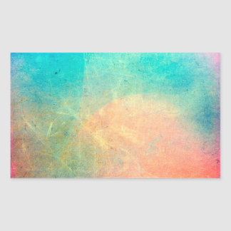 Rainbow Watercolor Grunge Colorful Rustic Rectangular Sticker