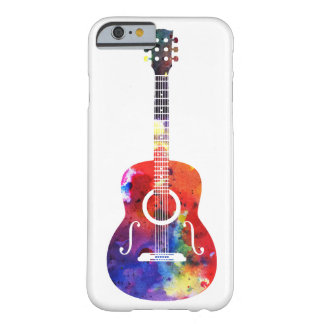 Rainbow Watercolor Guitar Barely There iPhone 6 Case