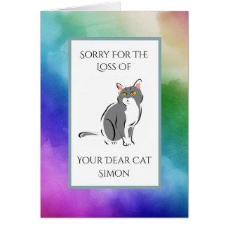 Rainbow Watercolor Loss Of A Cat Sympathy