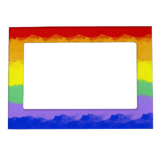 Rainbow Watercolor Magnetic Picture Frame