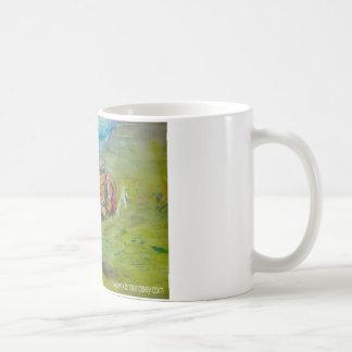 Rainbow Watercolor Painted Happy Frog Coffee Mug