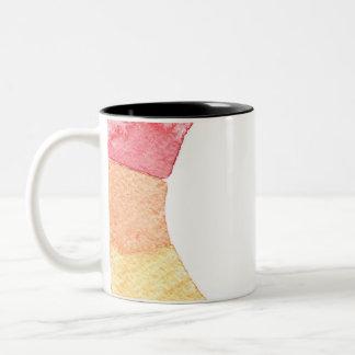 Rainbow watercolor ring modern colorful circle Two-Tone coffee mug