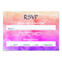 Rainbow Watercolor - RSVP Card
