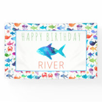Rainbow Watercolor Under The Sea Rainbow Fish Banner