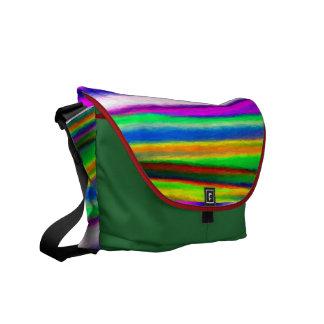 Rainbow Watercolors Messenger Bag