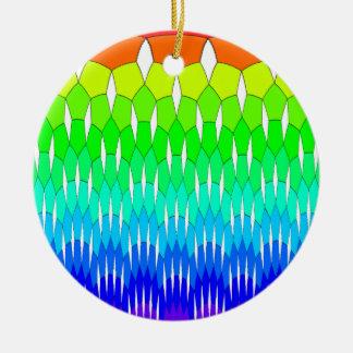 Rainbow waterfall ceramic ornament