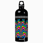 Rainbow Waterfall - Fractal Art Aluminum Water Bottle