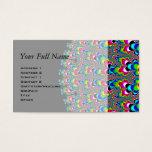 Rainbow Waterfall - Fractal Art Business Card