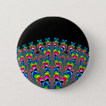 Rainbow Waterfall - Fractal Art Button