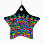 Rainbow Waterfall - Fractal Art Ceramic Ornament