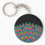 Rainbow Waterfall - Fractal Art Keychain