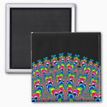 Rainbow Waterfall - Fractal Art Magnet