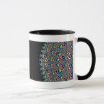 Rainbow Waterfall - Fractal Art Mug