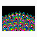 Rainbow Waterfall - Fractal Art Postcard