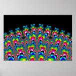 Rainbow Waterfall - Fractal Art Poster