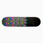 Rainbow Waterfall - Fractal Art Skateboard Deck